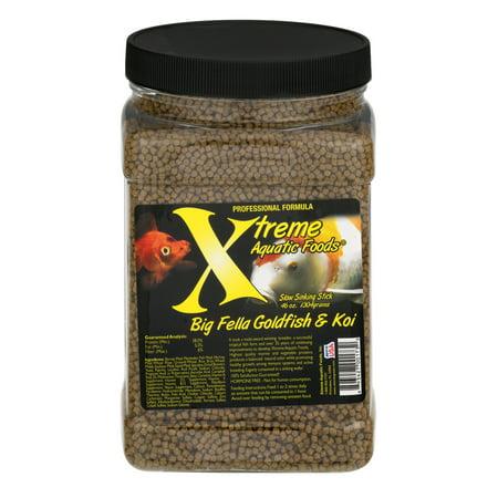Xtreme Aquatic Big Fella Goldfish & Koi Pond Fish Food Pellets, 40 (Fish Aquatic Pellets)