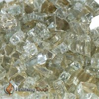 "1/2"" Titanium Metallic Fireglass - 1 Lbs. Bag"