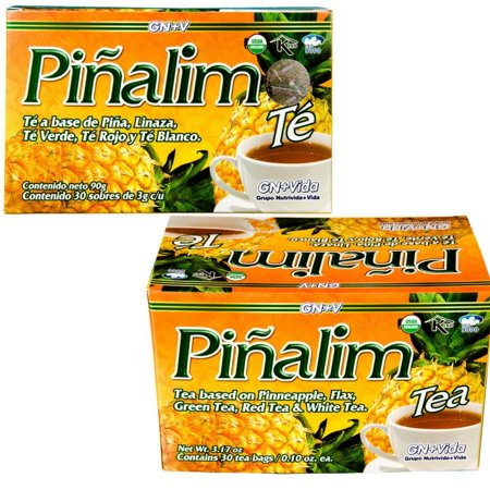 2 PACK Pinalim Pineapple Detox Tea 60 Day Supply Te Pinalim by GN+Vida- 2 Month