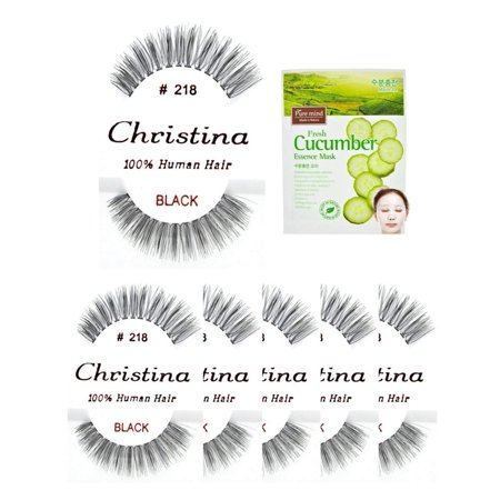 6packs Eyelashes - #218 100% Human Hair Fake Eyelashes, The best guaranteed quality lashes available in the eyelash market. By (Best Quality Fake Diamonds)