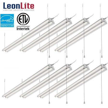 LEONLITE 8 Pack 40W 4ft LED Shop Light for Garage, Linkable LED Shop Lights, 5000K Daylight - Shoe Light