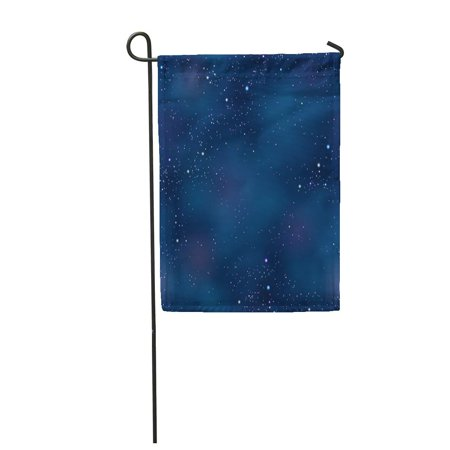 SIDONKU Pink Abstract Cloudy Night Space Skyscape Starry Mask was Asterism Garden Flag Decorative Flag House Banner 12x18 inch