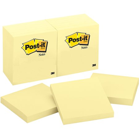 Post-It Sticky Notes, 12 Pack, Canary Yellow, 100 Sheets per (Best Notes For Ipad)