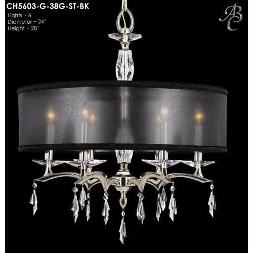 American Brass & Crystal Kaya 6-Light Chandelier
