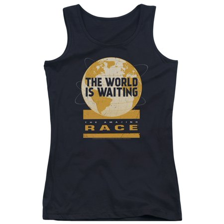 The Amazing Race Reality Game Show The World Is Waiting Logo Juniors Tank Top ()