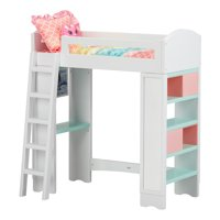 "My Life As Loft Bed Play Set for 18"" Dolls, 6 Pieces, Choose from 2 Styles"