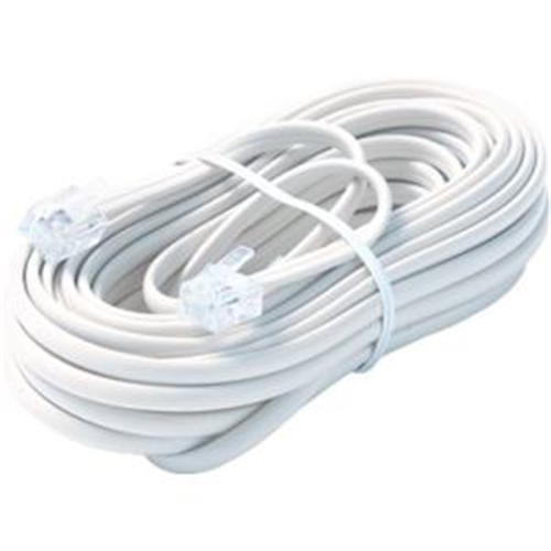 Steren Telephone Network Cable - 100 ft - White BL-324-100WH
