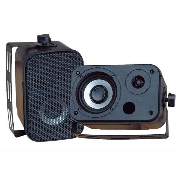 """Pyle 3.5"""" Indoor/Outdoor Waterproof Speakers (Black)"""