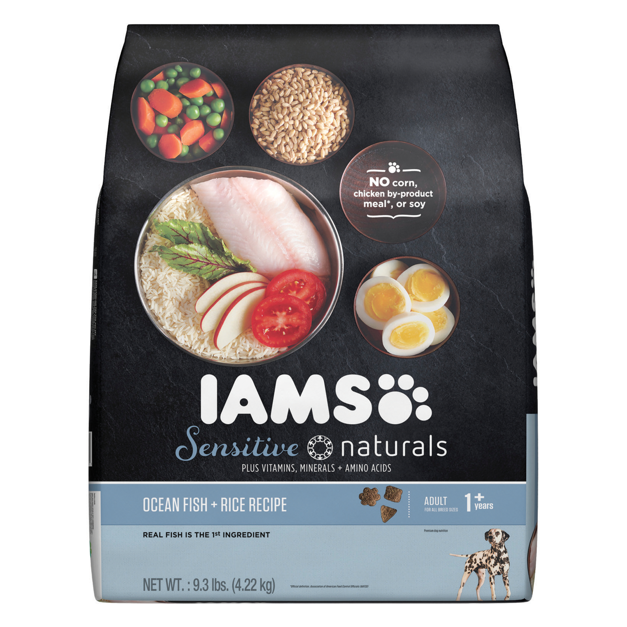 IAMS Sensitive Naturals Adult Ocean Fish and Rice Recipe Dry Dog Food 9.3 Pounds