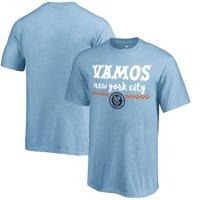 New York City FC Fanatics Branded Youth Hispanic Heritage Let's Go T-Shirt - Light Blue