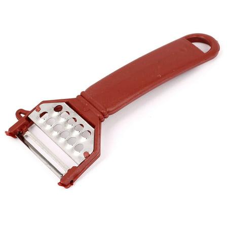 Grip Vegetable Knife - Plastic Grip Metal  Vegetable Fruit Peeler Parer Peeling Tool Red