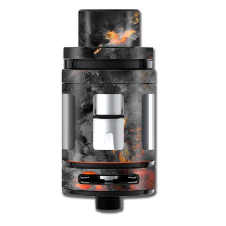Skin Decal For Smok Mini Tfv8 Big Baby Beast Tank Vape Mod / Grey Clouds On Fire Paint](Baby On Cloud)