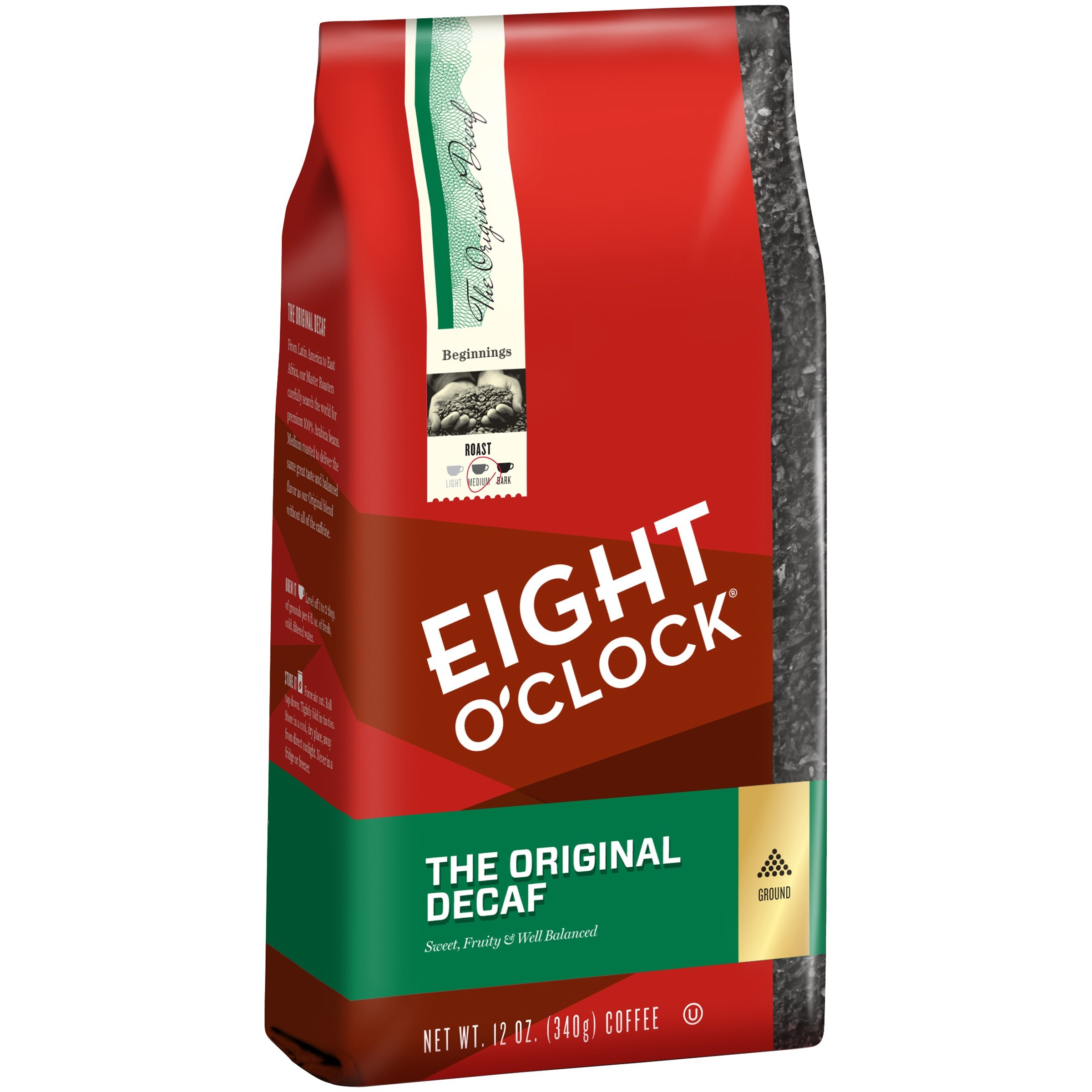 Eight O'Clock The Original Decaf Ground Coffee, 12 Oz
