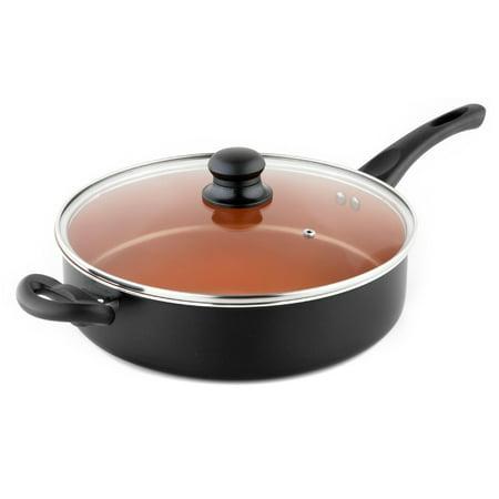 Michelangelo Non Stick Saute Pan With Helper Handle