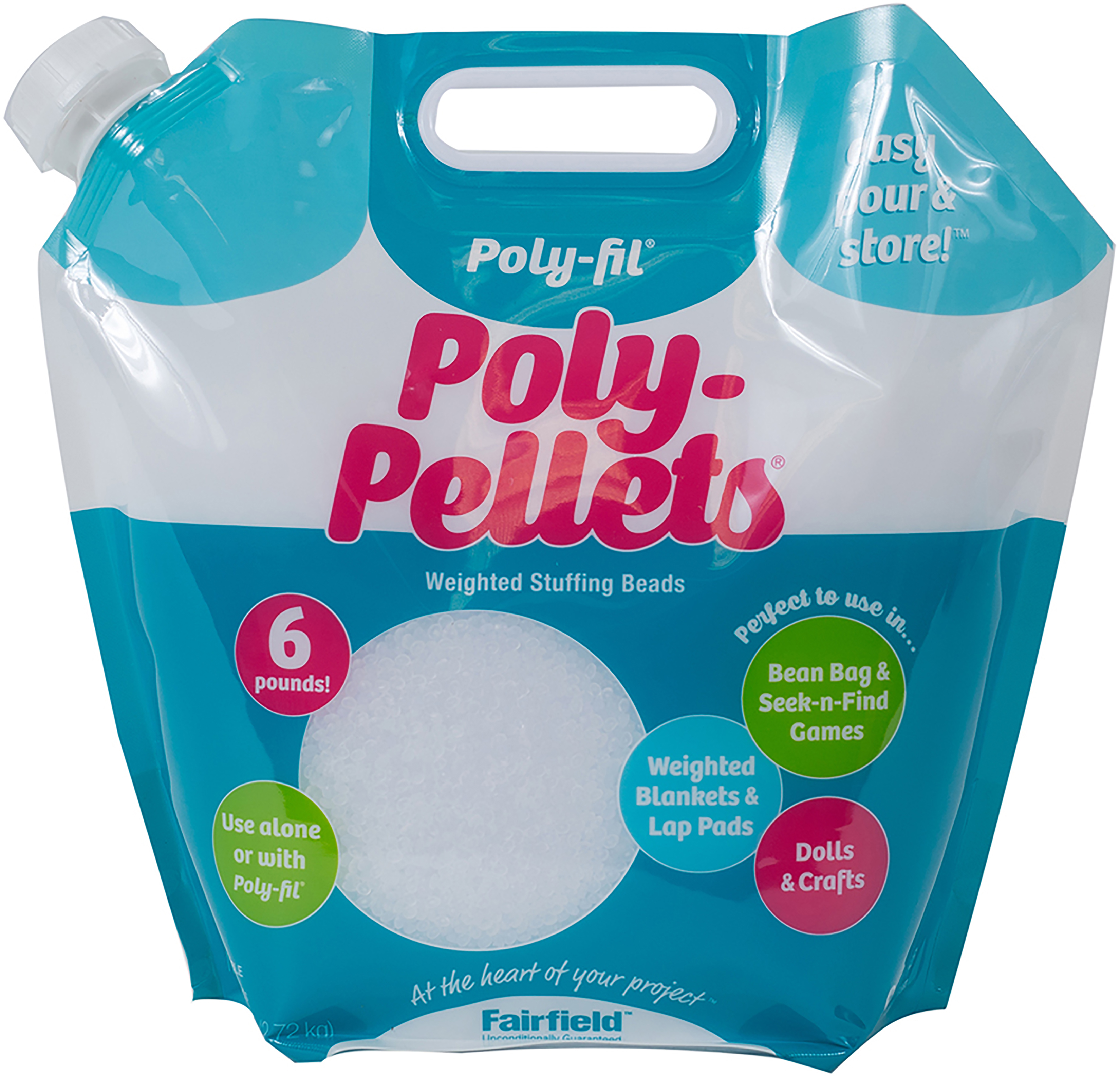 Poly-Fil Poly-Pellets Weighted Stuffing Beads-6 lb Bag