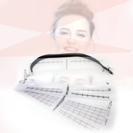 12 Styles Eyebrow Stencil Kit with Strap Eyebrow Ruler Reusable Eyebrows Grooming Stencil Set Eyebrow Shaping Card Template Tattoo Tool - image 4 de 7