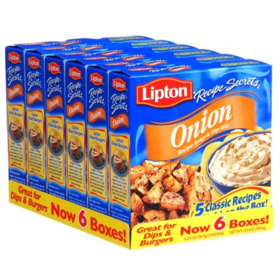 Lipton Onion Recipe Soup & Dip Mix - 6/2 oz.