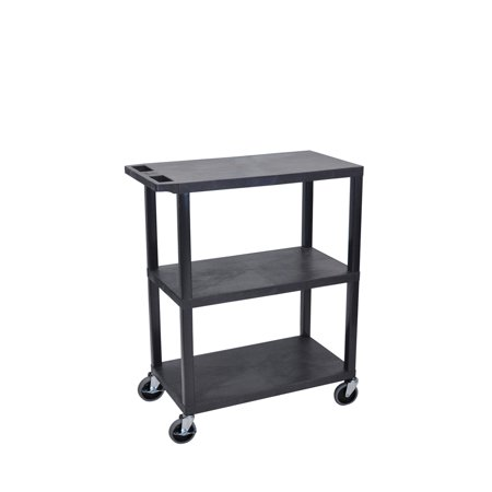 Offex OF-EA42-B 3 Flat Shelves Black Presentation Station