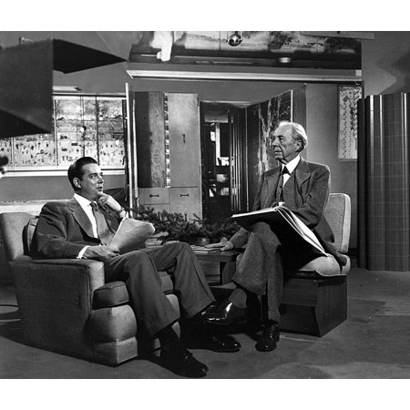 - Hugh Downs and Frank Lloyd Wright wearing suits Photo Print