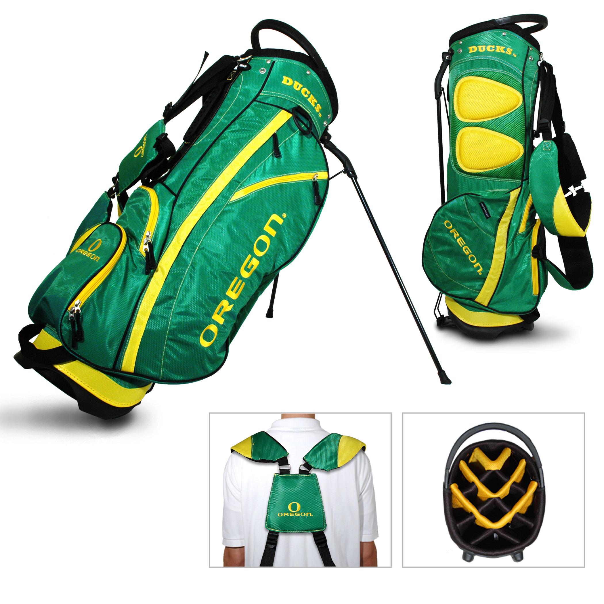 Team Golf NCAA Oregon Fairway Golf Stand Bag