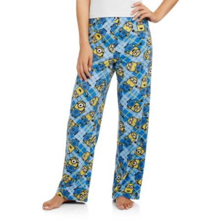 69123d9ca648 Despicable Me 2 - Ladies Micro Fleece Minions Plaid Pajama Lounge Sleep Pant  - Walmart.com