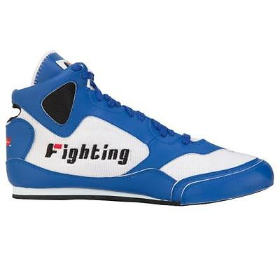 FIGHTING SPORTS AGGRESSOR MID BOXING SHOES Blue/White 5