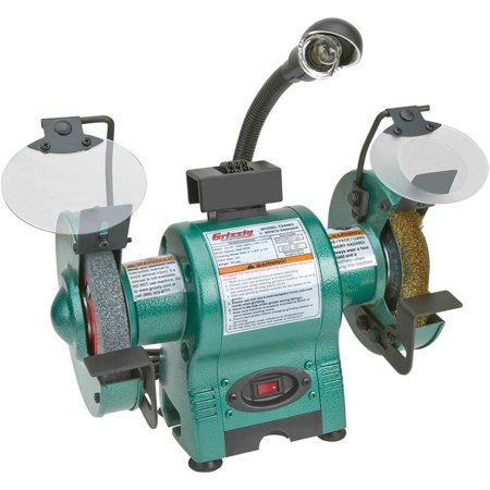 Grizzly T24463 6 Quot Bench Grinder With Work Light Walmart Com