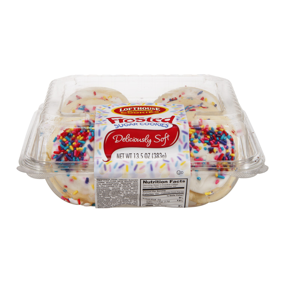 Lofhouse Frosted Sugar Cookies - 10 CT
