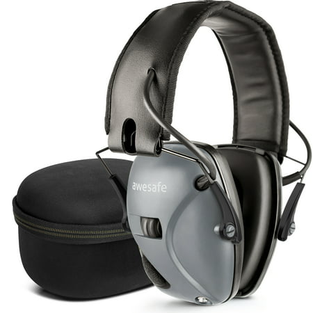 awesafe Electronic Shooting Hearing Protection Earmuffs Comes with Hard Carrying Case, Shooting Earmuffs with Sound Amplification and Suppression thumbnail