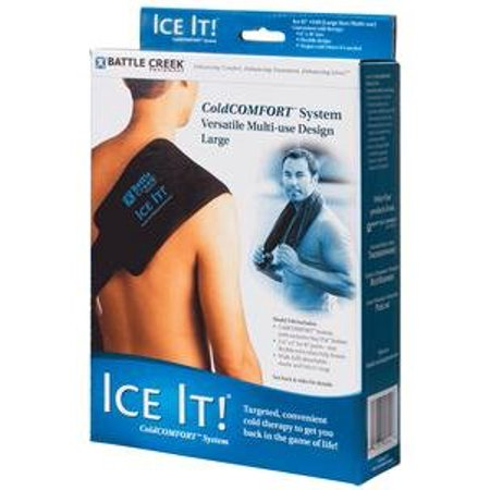 Ice It! Deluxe  Wrap System With Cover And Strap By Battle Creek Equipment Cold Pack - 6 Inchesx18 Inches Size