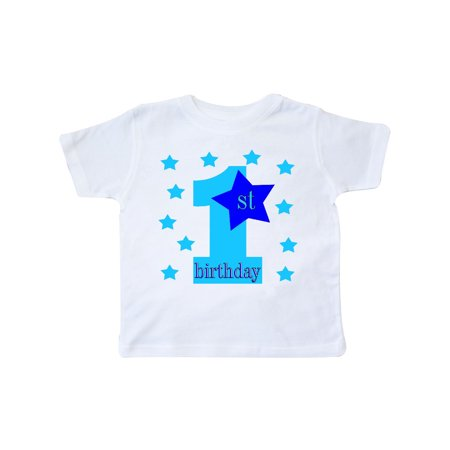 1st Birthday Boy Stars Toddler T Shirt
