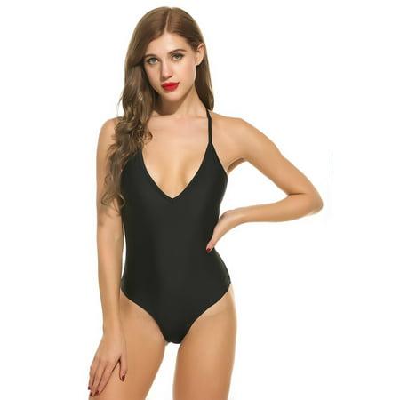 1398315de OCTAP - Swimsuits Bathing Suit Sexy Mesh Net One-Piece Swimwear Lace Up  Backless Beach wear DIRESOP - Walmart.com