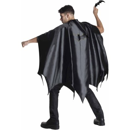 Batman Cape Adult Halloween Accessory - Two Face Batman Halloween Makeup