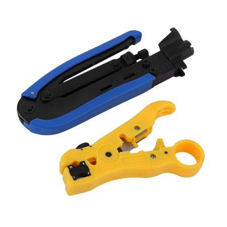 RG59 RG6 RG11 RG7 Connectors Coax Cable Wire Crimper Stripper ...