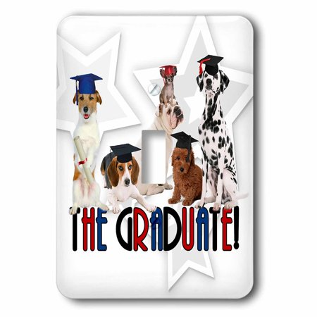 3dRose Pack of Dogs in Cap and Gowns for the Graduate., 2 Plug Outlet - Cap And Gown For Preschool