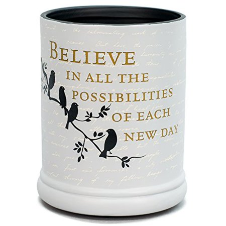 Believe in Tomorrow Ceramic Stoneware Electric Large Jar Candle Warmer
