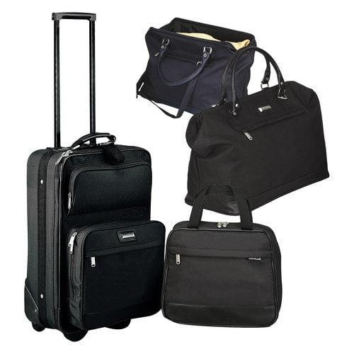 Preferred Nation The Onyx 3 Piece Luggage Set