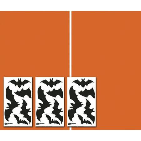 "WOWindow Posters Make A Scene: Bats Stickers and Orange Film Halloween Window Decoration Two 34.5""x60"