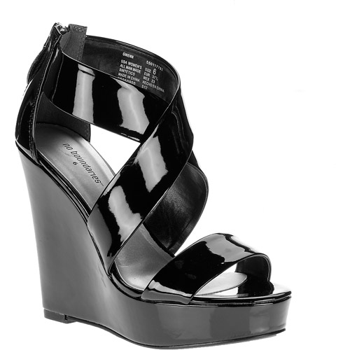 No Boundaries - Women's Gwenn Wedge Ankle Strap Dress Sandals
