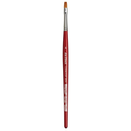 da Vinci Watercolor Series 5880 CosmoTop Spin Paint Brush, Flat Synthetic with Red Handle, Size 4, A blend of 5 different diameters of extra smooth.., By da Vinci Brushes From USA (Spin Paint)