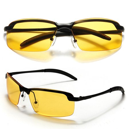 Yellow Lens Polarized Night Vision Glasses Outdoor Driving Sunglasses UV