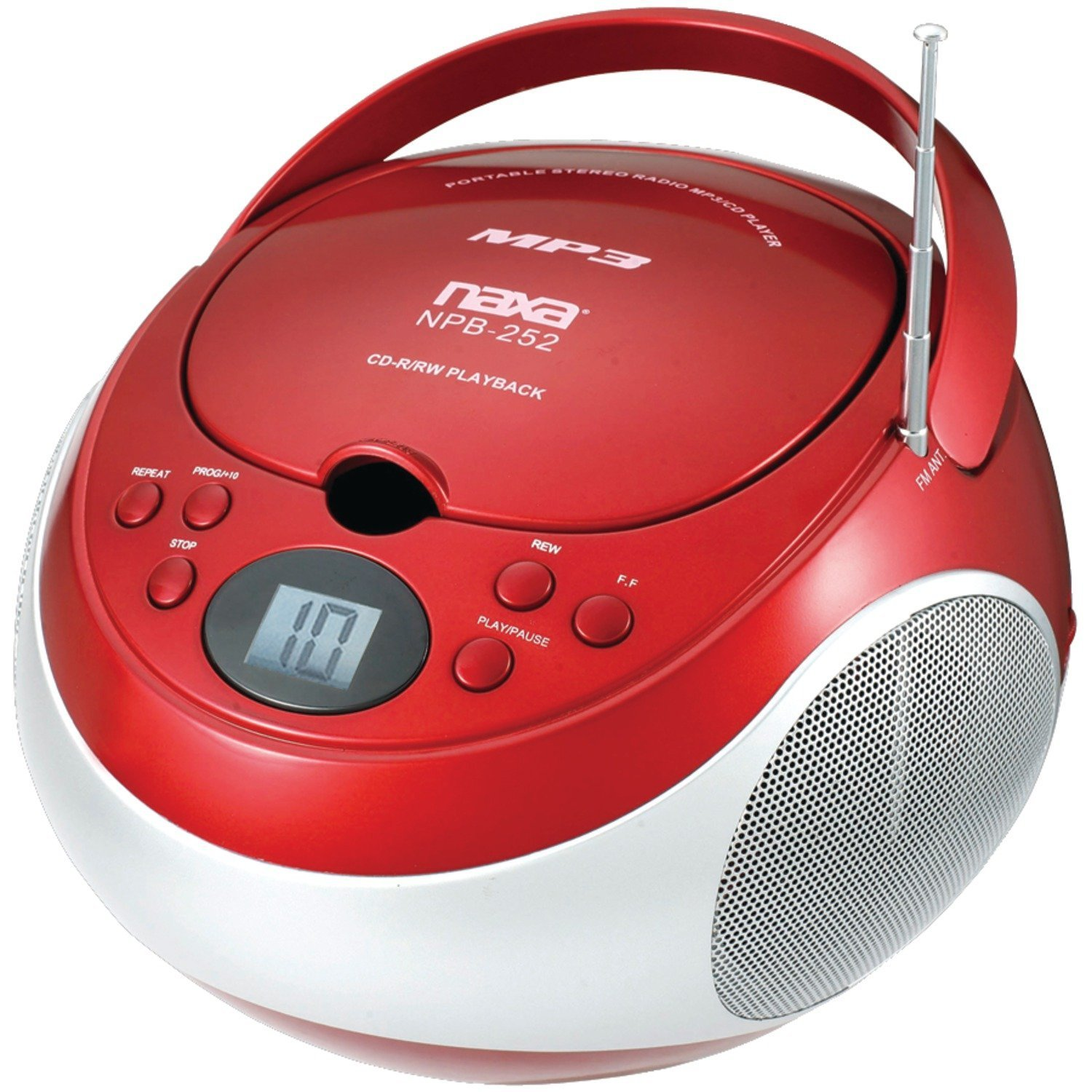 Radio Stereo System, Electronics Portable Mp3/cd Player Fm Am Stereo Radio, Red