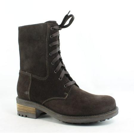 La Canadienne Womens Carolina Brown Combat Boots Size 6