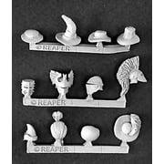 Reaper Miniatures Hats and Helmets #03202 Dark Heaven Legends Unpainted Metal