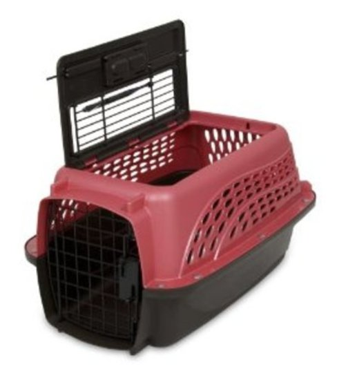 Petmate Two Door Top Load 19-Inch Pet Kennel, Pearl Honey Rose and Coffee Ground Bottom Multi-Colored