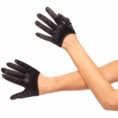 Leg Avenue Mini Cropped Satin Gloves Adult Halloween Accessory - Disfraces De Halloween Mimi