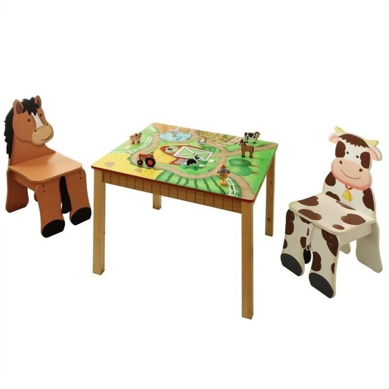 Teamson Fantasy Fields Hand Painted Happy Farm Table and ...