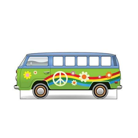 Advanced Graphics 2837 36 x 83 in. Hippie Bus Standin Cardboard Cutout Standup (Bush Cardboard Cutout)