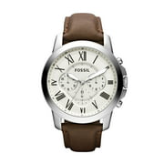 Fossil Men's Grant Chronograph Brown Leather Strap Watch (Style: FS5068)