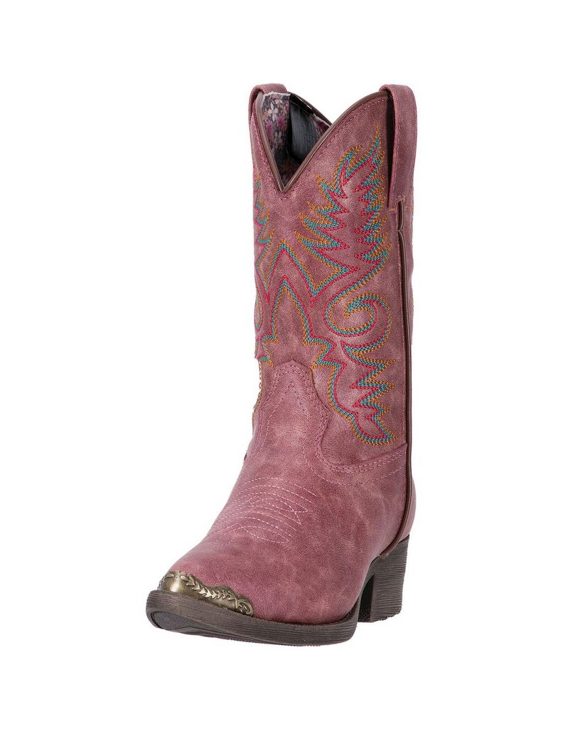 Laredo Western Boots Girls Tobi Cowgirl Western Stitching Pink LC2227 by Laredo